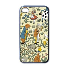 Alice In Wonderland Apple iPhone 4 Case (Black)