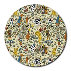 Alice In Wonderland 8  Mouse Pad (Round)