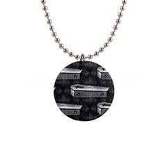 Coffin Button Necklace