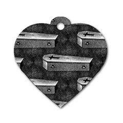 Coffin Dog Tag Heart (One Sided)