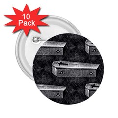 Coffin 2.25  Button (10 pack)
