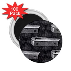Coffin 2.25  Button Magnet (100 pack)