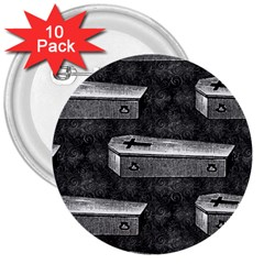Coffin 3  Button (10 pack)