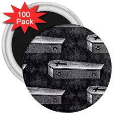 Coffin 3  Button Magnet (100 pack)