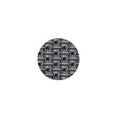 Coffin 1  Mini Button Magnet