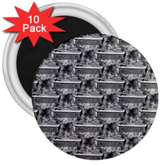 Coffin 3  Button Magnet (10 pack)