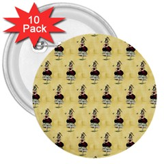 Female Eye 3  Button (10 pack)