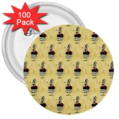 Female Eye 3  Button (100 pack)