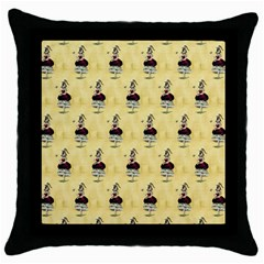 Female Eye Black Throw Pillow Case