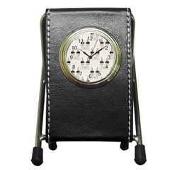 Female Eye Stationery Holder Clock