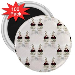 Female Eye 3  Button Magnet (100 pack)