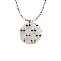 Female Eye Button Necklace