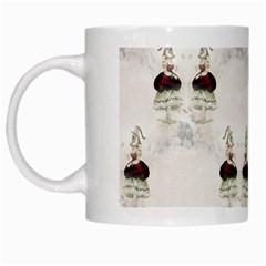 Female Eye White Coffee Mug