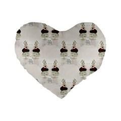 Female Eye 16  Premium Heart Shape Cushion