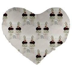 Female Eye 19  Premium Heart Shape Cushion