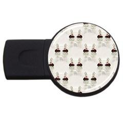 Female Eye 1GB USB Flash Drive (Round)