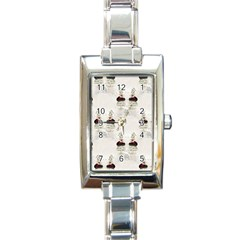 Female Eye Rectangular Italian Charm Watch
