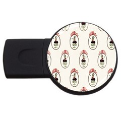 Female Eye 4GB USB Flash Drive (Round)