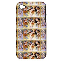 Four Seasons By Alphonse Mucha 1895 Apple iPhone 4/4S Hardshell Case (PC+Silicone)