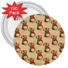 Happy New Year 3  Button (100 pack)