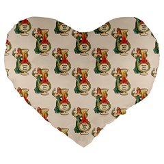 Happy New Year 19  Premium Heart Shape Cushion