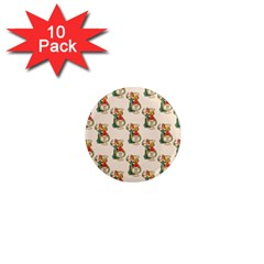 Happy New Year 1  Mini Button Magnet (10 pack)