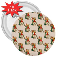 Happy New Year 3  Button (10 pack)