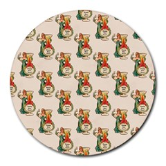 Happy New Year 8  Mouse Pad (Round)