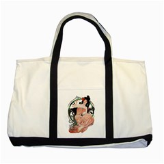 Job Advertisement By Alfons Mucha 1898  Two Toned Tote Bag