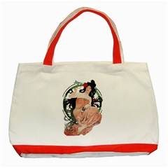 Job Advertisement By Alfons Mucha 1898  Classic Tote Bag (Red)