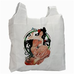 Job Advertisement By Alfons Mucha 1898  Recycle Bag (One Side)