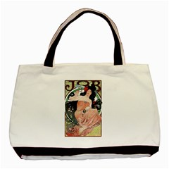 Job Advertisement By Alfons Mucha 1898  Twin-sided Black Tote Bag