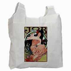 Job Advertisement By Alfons Mucha 1898  Recycle Bag (Two Sides)