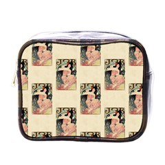 Job Advertisement By Alfons Mucha 1898  Mini Travel Toiletry Bag (One Side)