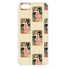 Job Advertisement By Alfons Mucha 1898  Apple iPhone 5 Seamless Case (White)