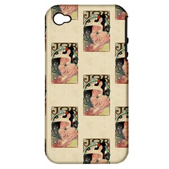 Job Advertisement By Alfons Mucha 1898  Apple iPhone 4/4S Hardshell Case (PC+Silicone)
