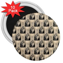 Mother Mary 3  Button Magnet (10 pack)