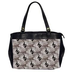 Music Oversize Office Handbag (Two Sides)