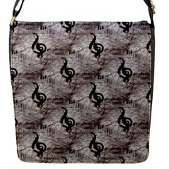 Music Flap closure messenger bag (Small)