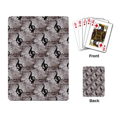 Music Playing Cards Single Design