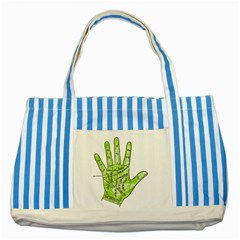 Palmistry Blue Striped Tote Bag