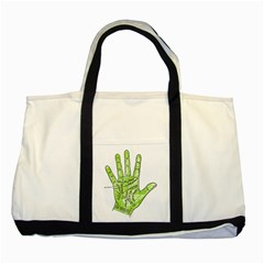 Palmistry Two Toned Tote Bag