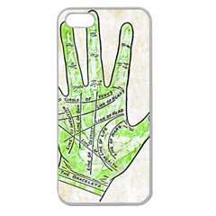 Palmistry Apple Seamless iPhone 5 Case (Clear)