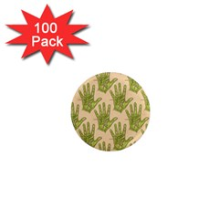 Palmistry 1  Mini Button Magnet (100 pack)