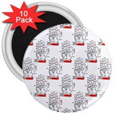 Palmistry 3  Button Magnet (10 pack)