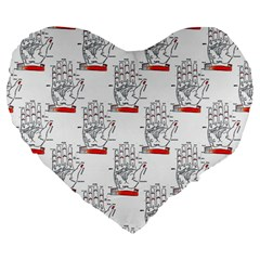 Palmistry 19  Premium Heart Shape Cushion