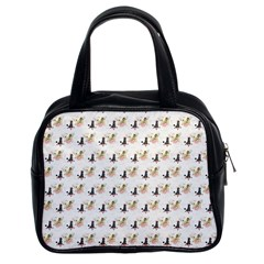 Retro Poodles  Classic Handbag (Two Sides)