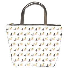 Retro Poodles  Bucket Bag