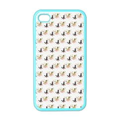 Retro Poodles  Apple iPhone 4 Case (Color)
