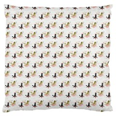 Retro Poodles  Large Cushion Case (Two Sides)